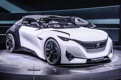 FRANKFURT - SEPT. 2015: Peugeot-Fractal Concept bij IAA wordt voorgesteld die Stock Fotografie
