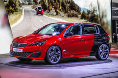 FRANKFURT - SEPT 2015: Peugeot 308 GTi 270 presented at IAA Inte Royalty Free Stock Photography