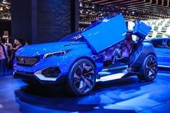 FRANKFURT - SEPT 2015: Peugeot Kwarcowy pojęcie przedstawiający przy IAA Ja Obraz Stock