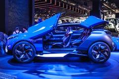 FRANKFURT - SEPT 2015: Peugeot Kwarcowy pojęcie przedstawiający przy IAA Ja Fotografia Royalty Free