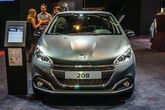 FRANKFURT - SEPT 2015: Peugeot 208 przedstawiający przy IAA Internationa Fotografia Royalty Free