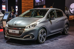 FRANKFURT - SEPT 2015: Peugeot 208 przedstawiający przy IAA Internationa Obraz Stock