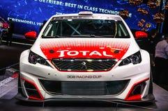 FRANKFURT - SEPT 2015: Peugeot 308 Racing Cup WRC WTCC presented Stock Photos