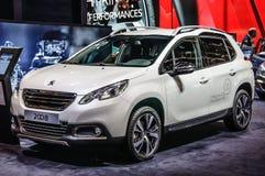 FRANKFURT - SEPT 2015: Peugeot 2008 som framläggas på IAA-internationalen Arkivfoton