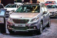 FRANKFURT - SEPT 2015: Peugeot 2008 som framläggas på IAA-internationalen Royaltyfria Bilder