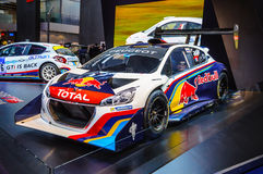 FRANKFURT - SEPT 21: Peugeot 208 T16 presented as world premiere Royalty Free Stock Photo