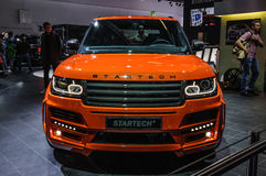 FRANKFURT - SEPT 2015: Pomylena Startech Range Rover furgonetki ciężarówka Fotografia Stock