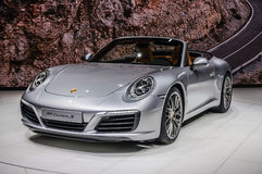 FRANKFURT - SEPT 2015: Porsche 911 991 Carrera S cabrio Royaltyfri Foto