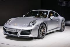 FRANKFURT - SEPT 2015: Porsche 911 991 Carrera S coupe presented Stock Images