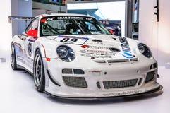 FRANKFURT - SEPT 2015: Porsche 911 997 GT3 RSR presented at IAA Royalty Free Stock Image