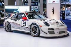 FRANKFURT - SEPT 2015: Porsche 911 997 GT3 RSR presented at IAA Royalty Free Stock Photography