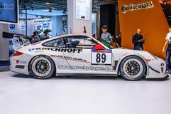 FRANKFURT - SEPT 2015: Porsche 911 997 GT3 RSR presented at IAA Stock Photography