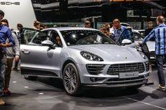 FRANKFURT - SEPT 2015: Porsche Macan S presented at IAA Internat Royalty Free Stock Images