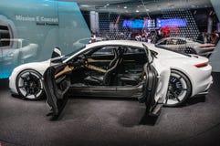 FRANKFURT - SEPT 2015: Porsche Mission E Concept presented at IA Stock Photos