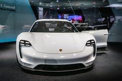 FRANKFURT - SEPT 2015: Porsche Mission E Concept presented at IA Stock Images