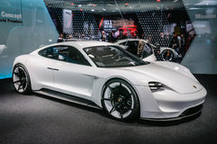 FRANKFURT - SEPT 2015: Porsche Mission E Concept presented at IA Royalty Free Stock Photography