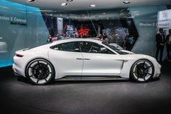 FRANKFURT - SEPT 2015: Porsche Mission E Concept presented at IA Royalty Free Stock Photos