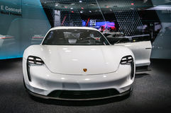 FRANKFURT - SEPT. 2015: Porsche-Opdrachte Concept bij IA wordt voorgesteld die Stock Afbeeldingen