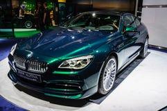FRANKFURT - SEPT 2015: Presente för BMW Alpina B6 Biturbo upplaga 50 Royaltyfria Foton