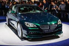 FRANKFURT - SEPT 2015: Presente för BMW Alpina B6 Biturbo upplaga 50 Royaltyfria Bilder