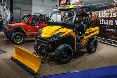 FRANKFURT - SEPT 2015: Quadix Trooper 800 Diesel UTV presented a Royalty Free Stock Image