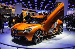 FRANKFURT - SEPT 21: RENAULT CAPTUR CONCEPT CAR  presented as wo Royalty Free Stock Photos