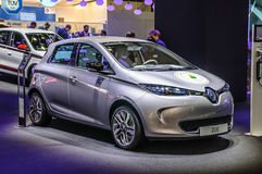 FRANKFURT - SEPT 2015: Renault ZOE presented at IAA Internationa Royalty Free Stock Photography