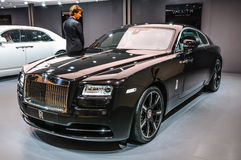 FRANKFURT - SEPT 2015: Rolls-Royce Wraith presented at IAA Inter. National Motor Show on September 20, 2015 in Frankfurt, Germany Royalty Free Stock Photos
