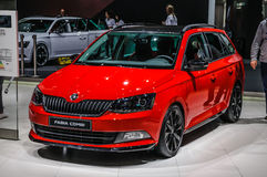 FRANKFURT - SEPT 2015: Skoda Fabia Combi presented at IAA International Motor Royalty Free Stock Images