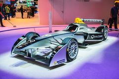 FRANKFURT - SEPT 21: Spark-Renault Formula E Race Car presented Stock Photos
