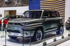 FRANKFURT - SEPT. 2015: Ssangyong-XAV-Avontuur voorgesteld Concept Stock Foto
