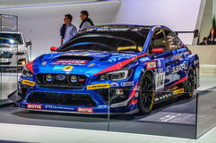 FRANKFURT - SEPT 2015: Subaru STI NBR Challenge presented at IAA Royalty Free Stock Photos