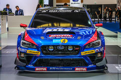 FRANKFURT - SEPT 2015: Subaru STI NBR Challenge presented at IAA Royalty Free Stock Photo