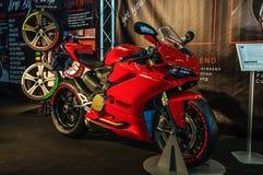 FRANKFURT - SEPT. 2015: Suberbike Ducati 1299 Panigale R presente Royalty-vrije Stock Afbeeldingen