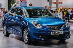 FRANKFURT - SEPT 2015: Suzuki Baleno presented at IAA Internatio Stock Images