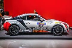 FRANKFURT - SEPT. 2015: Toyota Cs-V3 die GT WTCC WRC bij IAA wordt voorgesteld Stock Foto's