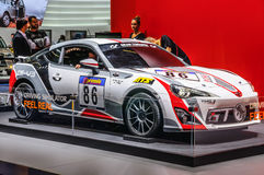 FRANKFURT - SEPT. 2015: Toyota Cs-V3 die GT WTCC WRC bij IAA wordt voorgesteld Royalty-vrije Stock Foto