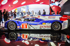 FRANKFURT - SEPT 21: Toyota TS030 Hybrid presented as world prem Stock Photos