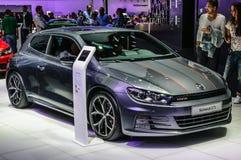 FRANKFURT - SEPT 2015: Volkswagen VW Scirocco GTS presented at IAA International Motor Royalty Free Stock Photos
