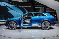 FRANKFURT - SEPT. 2015: Voorgestelde het Concept van Audi e-Tron Quattro Stock Foto