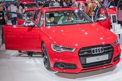 Audi S6. Frankfurt-September 20:  Audi S6 at the Frankfurt International Motor Show on September 20, 2017 in Frankfurt Royalty Free Stock Images
