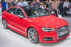 Audi S3. Frankfurt-September 20:  Audi S3 at the Frankfurt International Motor Show on September 20, 2017 in Frankfurt Royalty Free Stock Photos