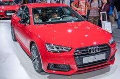 Audi s4. Frankfurt-September 20:  Audi S4 at the Frankfurt International Motor Show on September 20, 2017 in Frankfurt Stock Photography