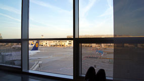 FRANKFURT - SEPTEMBER 2014: Aufenthaltsraum der ersten Klasse lizenzfreie stockfotografie