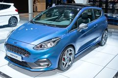 Ford Fiesta ST. Frankfurt-September 20:  Ford Fiesta ST at the Frankfurt International Motor Show on September 20, 2017 in Frankfurt Stock Images