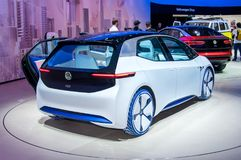 Volkswagen I.D. Frankfurt-September 20:  Volkswagen I.D.concept at the Frankfurt International Motor Show on September 20, 2017 in Frankfurt Royalty Free Stock Image