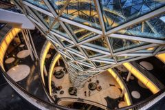 Frankfurt Shopping Mall. Taken in 2015 stock photography