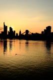 Frankfurt Silhouette Stock Photos