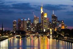 Frankfurt-Skyline Stockfoto