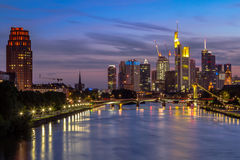 Frankfurt-Skyline Stockbild